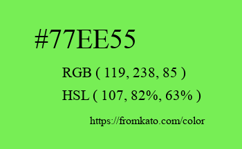 Color: #77ee55