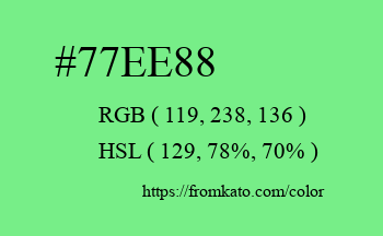 Color: #77ee88