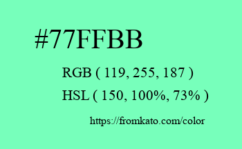 Color: #77ffbb