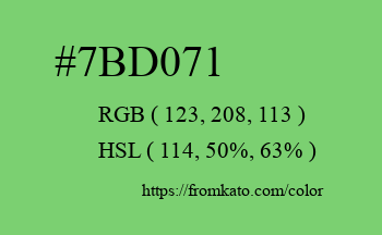 Color: #7bd071