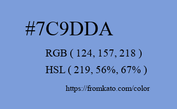 Color: #7c9dda