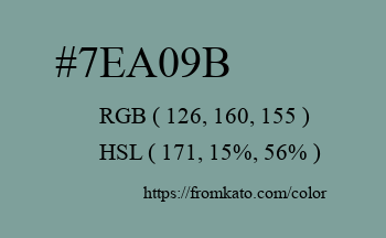 Color: #7ea09b
