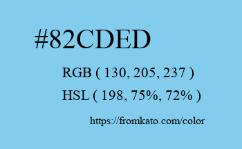 Color: #82cded