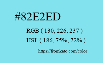 Color: #82e2ed