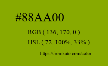 Color: #88aa00