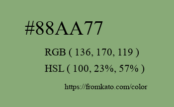 Color: #88aa77