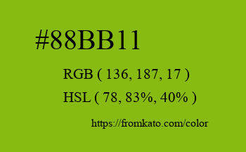 Color: #88bb11