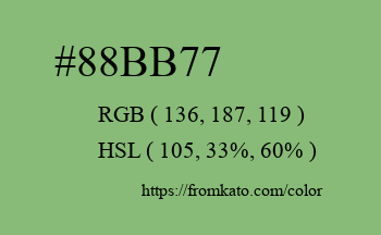 Color: #88bb77