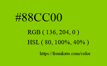 Color: #88cc00