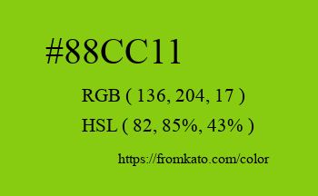 Color: #88cc11