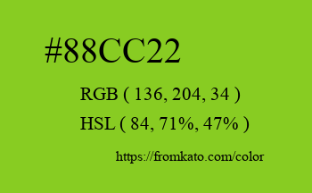 Color: #88cc22