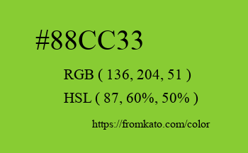 Color: #88cc33