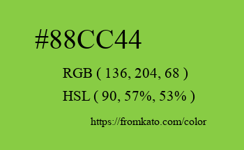 Color: #88cc44