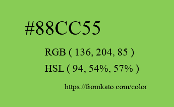 Color: #88cc55