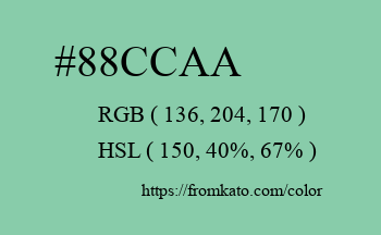 Color: #88ccaa