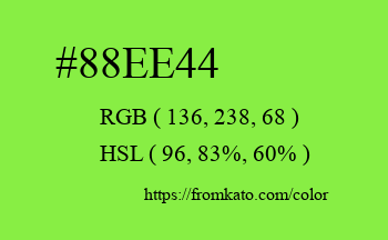 Color: #88ee44