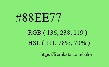 Color: #88ee77