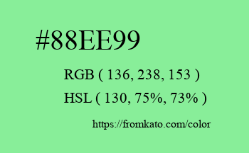 Color: #88ee99