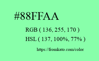 Color: #88ffaa