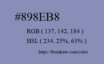 Color: #898eb8
