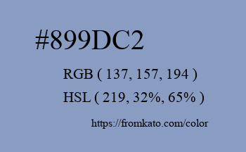 Color: #899dc2