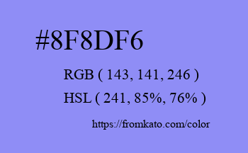 Color: #8f8df6