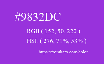 Color: #9832dc