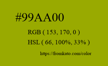 Color: #99aa00