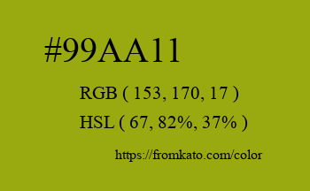 Color: #99aa11