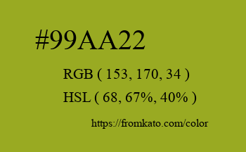Color: #99aa22