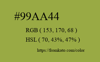Color: #99aa44