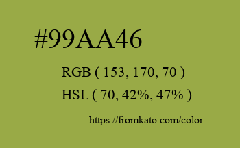 Color: #99aa46