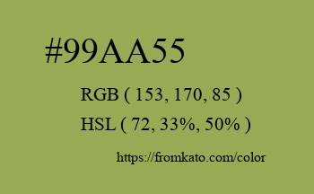 Color: #99aa55