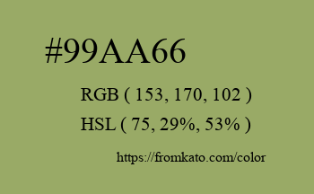 Color: #99aa66