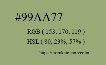 Color: #99aa77
