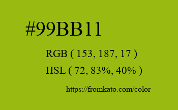 Color: #99bb11