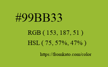 Color: #99bb33