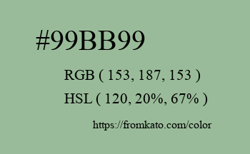 Color: #99bb99