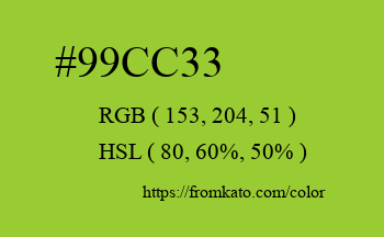 Color: #99cc33