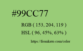Color: #99cc77