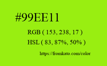 Color: #99ee11