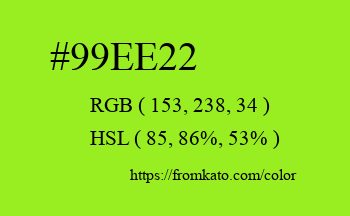 Color: #99ee22