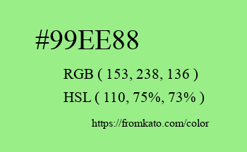 Color: #99ee88