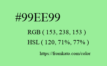 Color: #99ee99