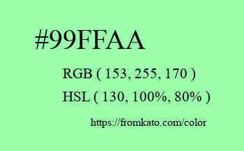 Color: #99ffaa