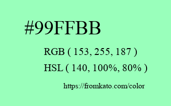 Color: #99ffbb