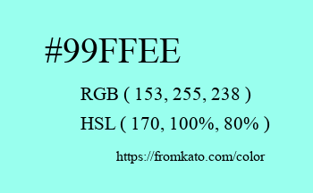 Color: #99ffee