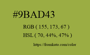 Color: #9bad43