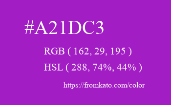 Color: #a21dc3