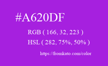 Color: #a620df